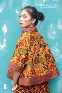 batik amarillis's all you need is love blouse-PO