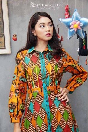 batik amarillis nine (9) dress-PO