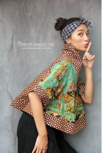 batik amarillis's all you need is love blouse