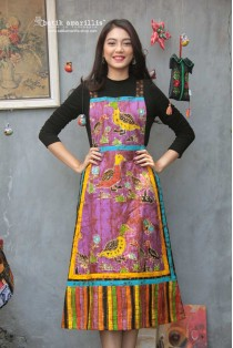 batik amarillis's cake for breakfast overall dress-PO