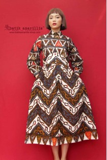 batik amarillis's la romain  dress(L)-PO