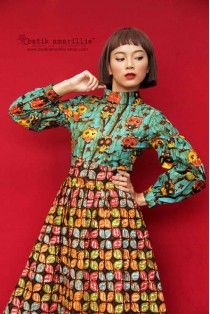 batik amarillis's la romain  dress-PO