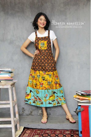 batik amarillis's project A overall wrap dress