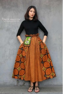 batik amarillis in my pocket skirt 2-PO