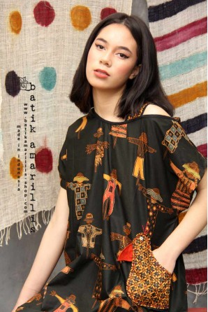 batik amarillis's breezy dress-PO