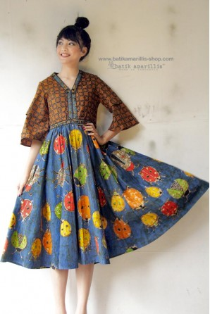 batik amarillis's amarantha dress(excluded obi belt)