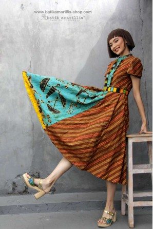 batik amarillis's romana dress-PO (excluded obi belt)