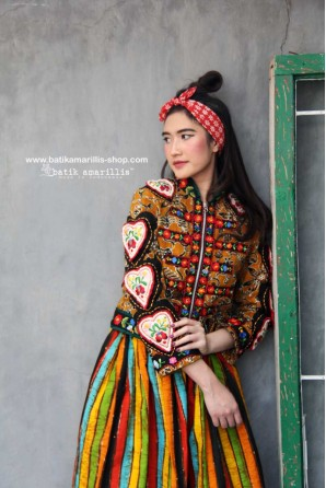 batik amarillis's queen of hearts jacket-PO