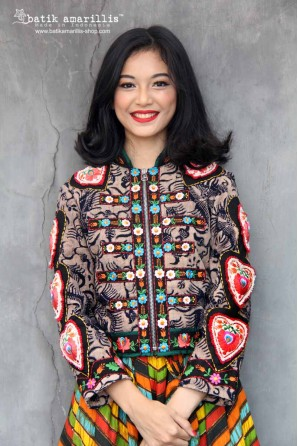 batik amarillis queen of hearts jacket-PO