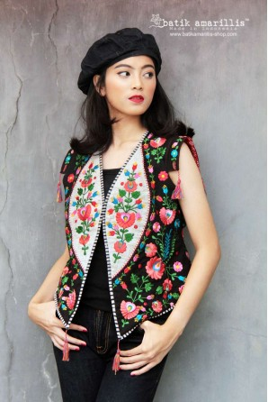 batik amarillis's birth day vest 8-PO