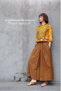 batik amarillis's warrior pants 2-PO
