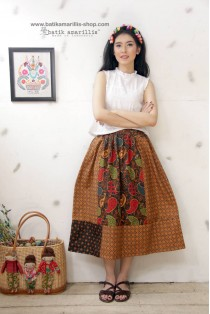batik amarillis's rainbow crackers skirt 2