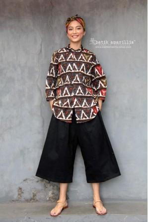 batik amarillis's uno top-PO