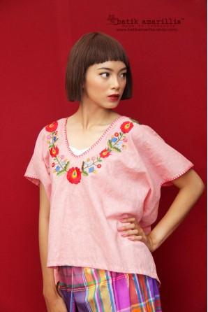 batik amarillis pandan wangi blouse-PO
