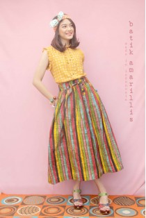 batik amarillis traveller's  skirt
