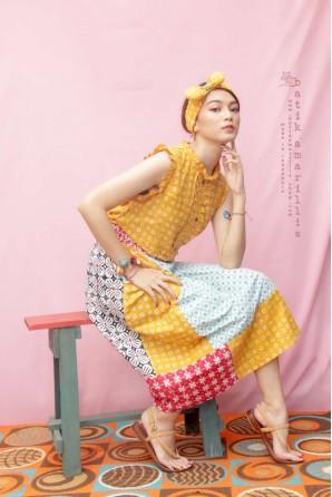 batik amarillis's rainbow crackers skirt 2-Xtralarge-PO