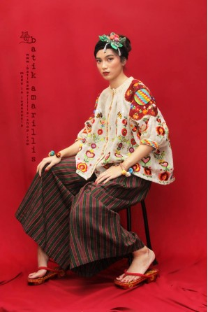 batik amarillis's tsubaki jacket-PO