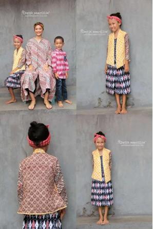 batik amarillis's miss popon kebaya for kid