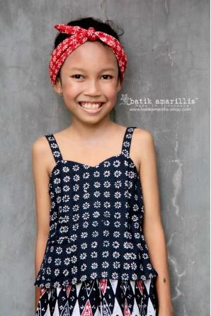 batik amarillis's miss popon camisole for kid