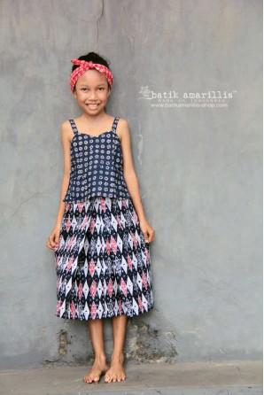 batik amarillis's angin mamiri skirt for kid
