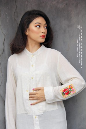 batik amarillis's uno shirt 2-PO