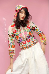 batik amarillis's petit bon bon hoodie jacket-PO