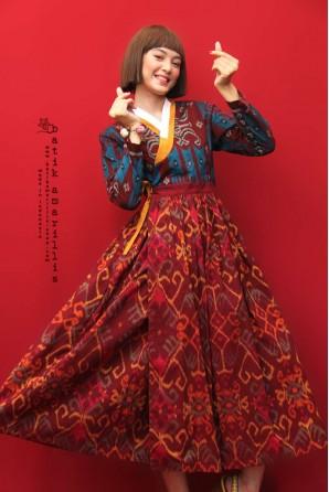 batik amarillis's areum dress
