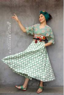 batik amarillis's kiku dress 2-PO