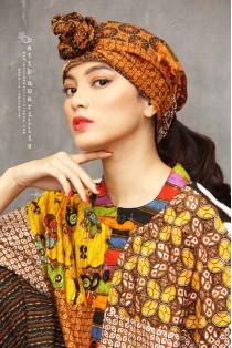 batik amarillis's byzantine turban-PO