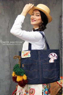 batik amarillis's my jeans bag