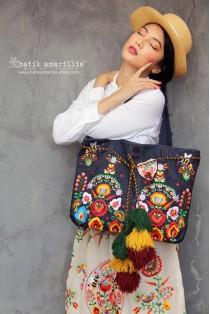 batik amarillis's my jeans bag luxe