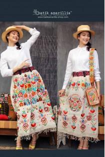 batik amarillis reversible tomie skirt-PO