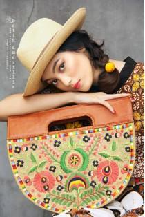 batik amarillis's suika hand bag